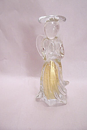 Crystal Art Glass Angel Candle Holder (Image1)