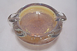 Murano Handblown Cased Art Glass Ash Tray