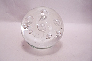 Murano Handblown Crystal Glass Paperweight  (Image1)