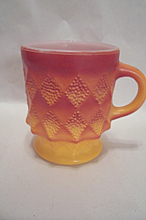 FireKing/Anchor Hocking Two-Tone Orange Kimberly  Mug (Image1)