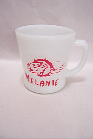 Fireking/anchor Hocking White Razorback Mug