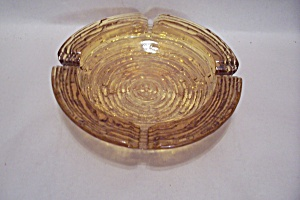 FireKing/Anchor Hocking Soreno Pattern Amber Ash Tray (Image1)