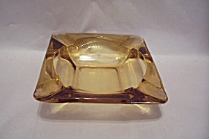 Fireking/anchor Hocking Square Amber Glass Ash Tray