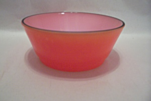 Fireking/anchor Hocking Bold Colors Red Bowl