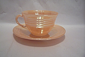 Fireking Three Bands Lustre Cup & Saucer Set