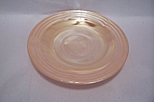 Fireking/anchor Hocking Three Bands Lustre Glass Saucer