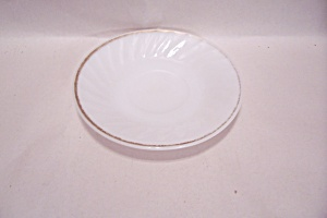 Fireking/anchor Hocking Swirl Golden Anniv. Saucer