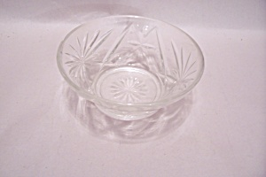 Fireking/anchor Hocking Eapc Crystal Glass Bowl