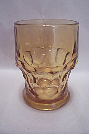 Fireking/anchor Hocking Georgian Pattern Amber Tumbler