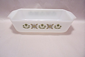 Fireking/anchor Hocking Meadow Green Glass Loaf Pan