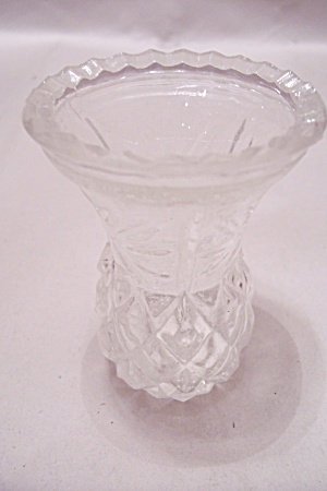 Pineapple Design Crystal Glass Toothpick Holder