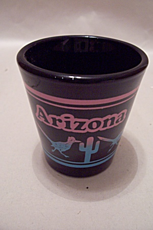 Arizona Souvenir Toothpick Black Glass Holder (Image1)