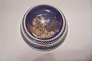 Dried Flower Half Dome Glass Paperweight (Image1)