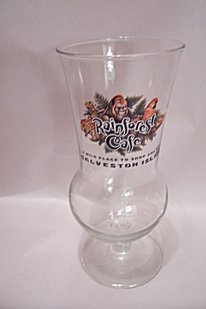 Rainforest Cafe, Galveston, TX Hurricane Beer Glass (Image1)