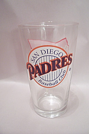 Budweiser San Diego Padres Souvenir Crystal Beer Glass (Image1)