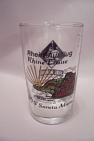 Rhine River Cruise Souvenir Cordial & Sherry Glass (Image1)
