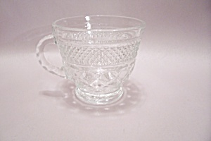 Anchor Hocking Wexford Pattern Crystal Glass Punch Cup