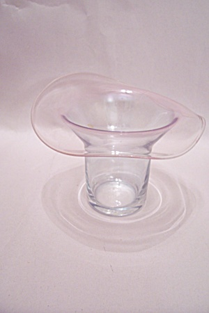 Crystal Glass Handblown Hat Shaped Toothpick Holder