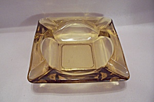 Fireking/anchor Hocking Amber Glass Ashtray