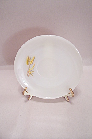 Fireking/anchor Hocking Wheat Pattern Glass Saucer