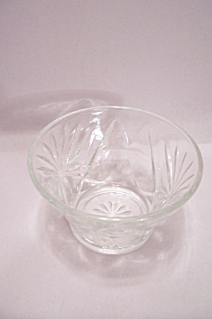 Anchor Hocking Eapc Crystal Glass Footed Sherbet