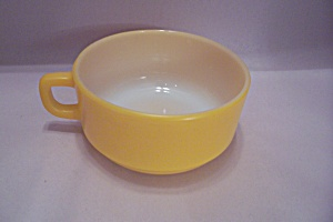 FireKing/Anchor Hocking Yellow Handled Soup Bowl (Image1)