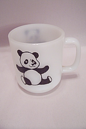 FireKing White/Milk Glass Panda Mug (Image1)