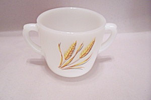 FireKing/Anchor Hocking Wheat Pattern Glass Sugar Bowl (Image1)