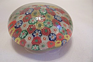 Handmade Multi-colored Cane Paperweight