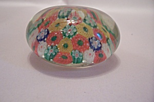 Multi-Colored Cane Glass Paperweight (Image1)