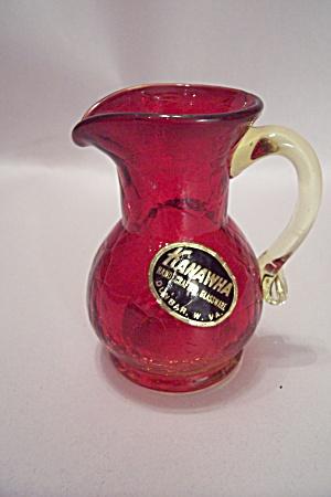 Kanawha Art Glass Amberina Pitcher Toothpick Holder (Image1)
