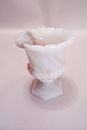 Slag Glass Pedestal Toothpick Holder (Image1)