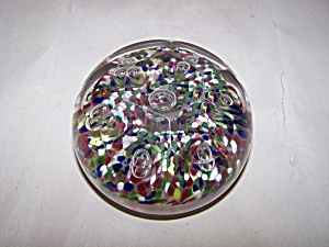 Multi-colored And Faceted Handmade Paperweight