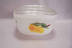 FireKing Gay Fad Studio Fruit Pattern Refrigerator Bowl (Image1)