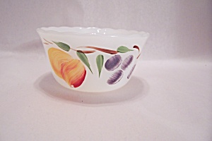 FireKing Gay Fad Studio Fruit Pattern Custard (Image1)