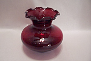 FireKing/Anchor Hocking Royal Ruby Glass Vase (Image1)