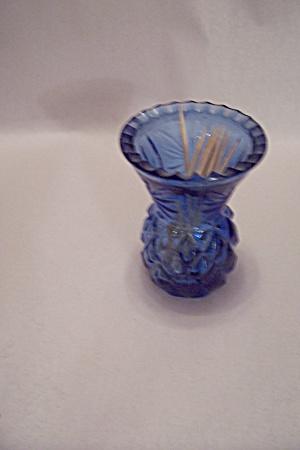 Cobalt Blue  Glass Pineapple Motif Toothpick Holder (Image1)