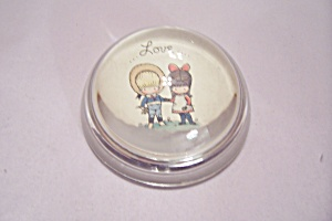 Glass -love-half Dome Paperweight