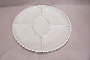 Anchor Hocking Milk/white Glass Divided Dish