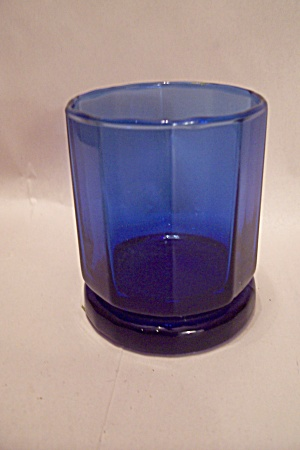 Anchor Hocking 10-sided Cobalt Blue Glass Tumbler