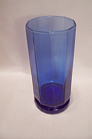 Anchor Hocking Cobalt Blue Glass Tall Tumbler (Image1)