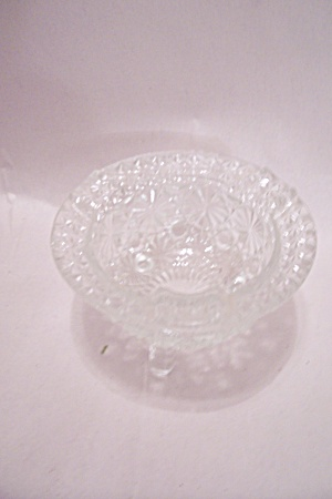 Daisy & Button Crystal Glass 3-leg Ash Tray