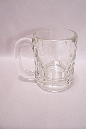 Crystal Glass Thumbprint Pattern Beer Mug (Image1)