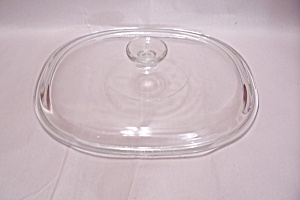 Pyrex Crystal Glass Casserole & Oven Oval Lid
