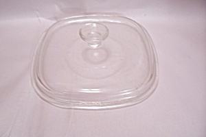 Pyrex Crystal Glass Square Casserole & Oven Lid