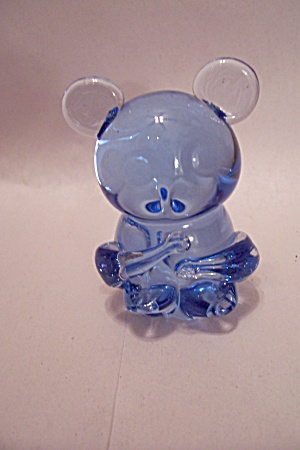 Handblown Blue Art Glass Mouse (Image1)