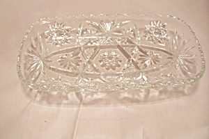 Fireking/anchor Hocking Eapc Crystal Glass Hostess Tray