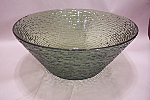 Fireking/anchor Hocking Soreno Pattern Avocado Bowl