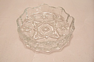 Fireking/anchor Hocking Eapc Crystal Glass Ashtray
