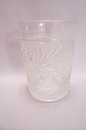 Fireking/anchor Hocking Sandwich Crystal Glass Tumbler